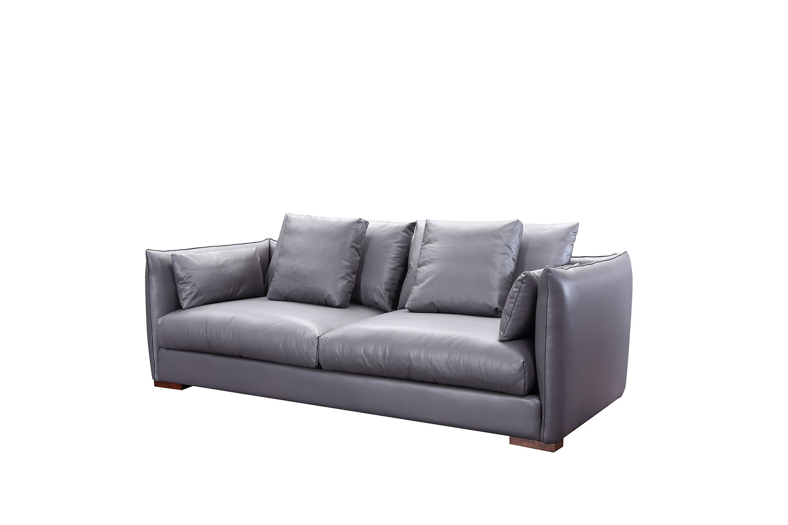 Excellent Dark Gray Leather Three Seat Sofa Alphanode Cool Chair Designs And Ideas Alphanodeonline